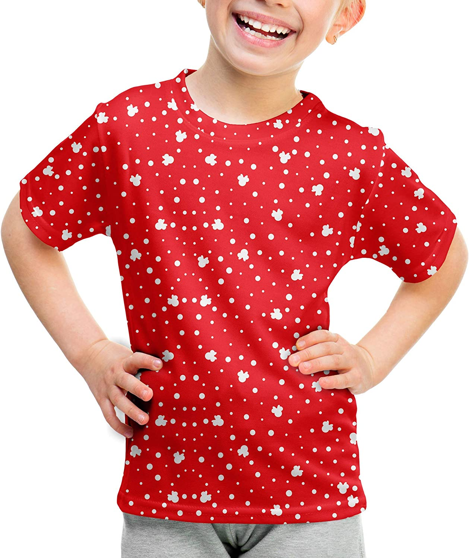Minnie Red Polka Dots Kids Cotton Blend T-Shirt Unisex