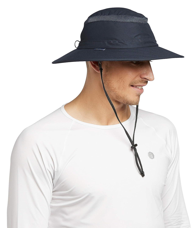 Solbari UPF 50 UV Protection Mens Sun Protection Broad Brim Hat Sun Protective