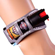Wrist Saver Pepper Spray for Runners - Joggers - Walking - Hiking - Lightweight Wristband w/LED Light - Id Card - Reflective Material - Police Grade Strength
