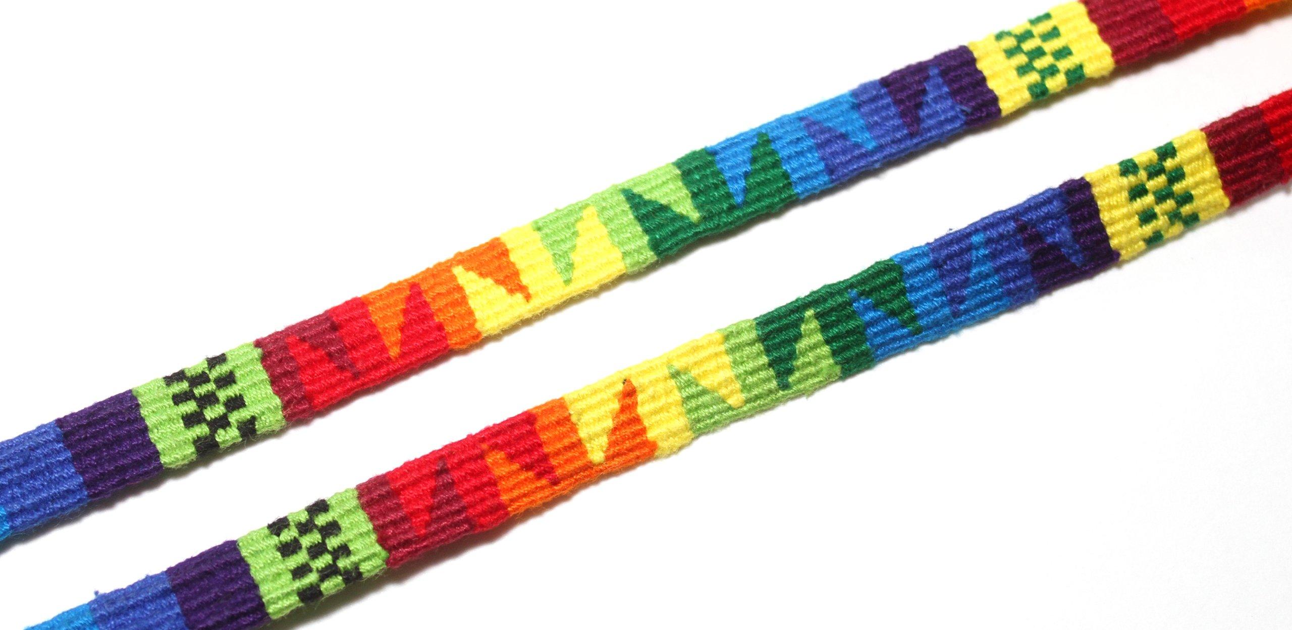 DeSuave Santa Fe Eyeglass Cord (Multi-Rainbow) by DE SUAVE