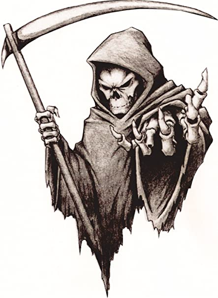 Amazoncom Vinyl Stickerdecal Medium 120mm Grim Reaper Facing