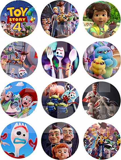 12 Personalized Pixar Ball Birthday Party Stickers favors labels birthday round