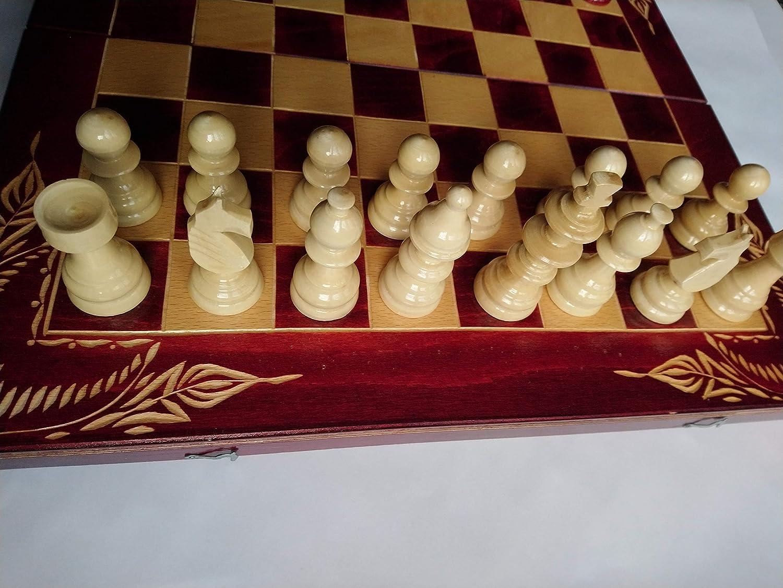 Nuevo rojo juego de ajedrez de madera, backgammon, damas, 44x44 cm caja de tablero de ajedrez de madera de haya tallada, pieza de ajedrez de madera avellana, juego de mesa educativo, juguete,