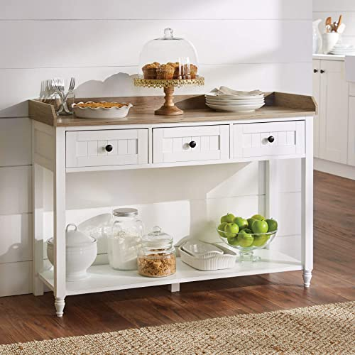 BrylaneHome Beaumont 3-Drawer Console