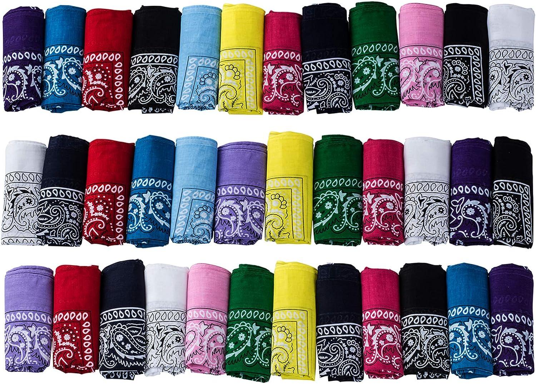 ℊeneral Multicolored Square Bandanas Assorted Cowboy Bandanas Novelty Scar