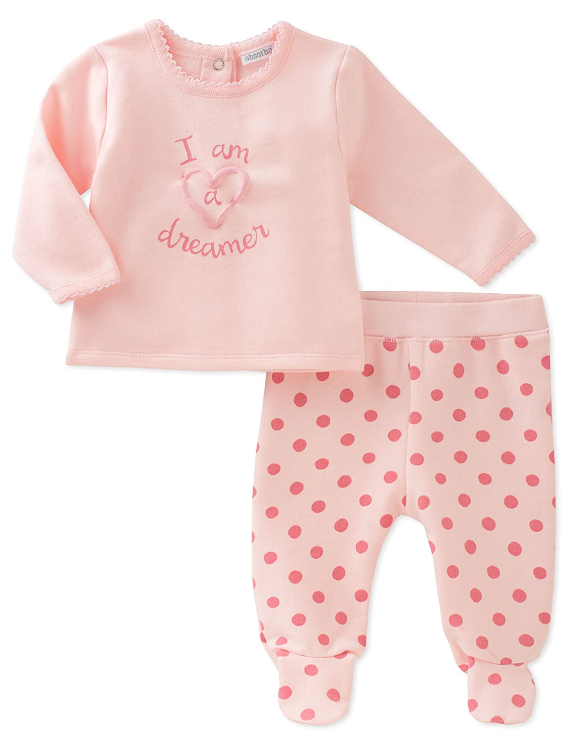 f2c4a813970f Amazon.com  absorba Baby Boys  Footed Pant Set-Girl  Clothing