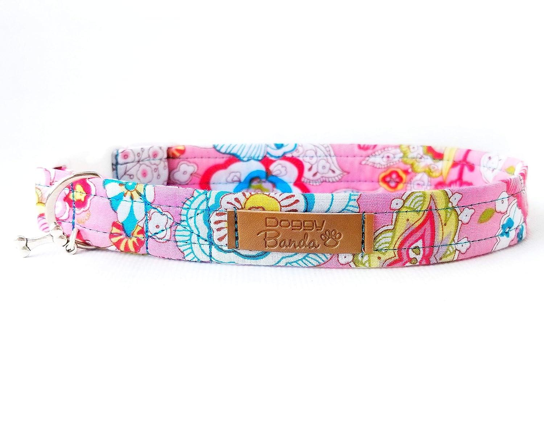 Amazon Paisley Pastel Dog Collar Pink Flowers Dog Collar Girl