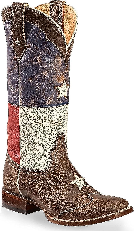 [Roper] レディースDistressed Texas Flag Cowgirl Boot Square Toe – 09 – 021 – 7001 – 0203 ブラウン