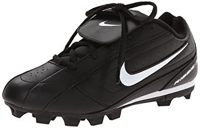 Nike 309303 Ribbie JR Baseball Cleat - Black/White - 5 Youth