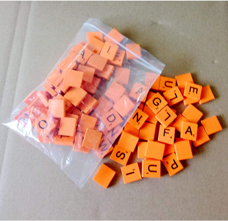 Getek 100 Wooden Scrabble Tiles Black Letters Numbers FOR Crafts Wood Alphabets: Amazon.es: Electrónica