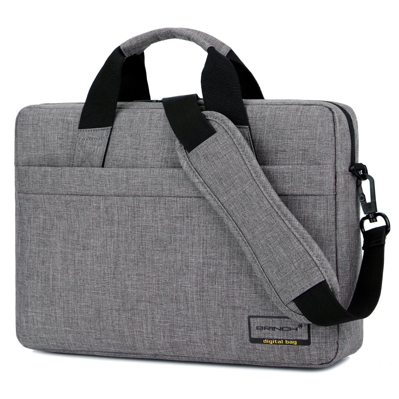 Laptop Bag,BRINCH 15.6 inch Stylish Lightweight Business Laptop Shoulder Messenger Bag Briefcase Sleeve Case for 15-15.6 inches Laptop/Notebook / MacBook/Ultrabook / Chromebook Computers,Grey