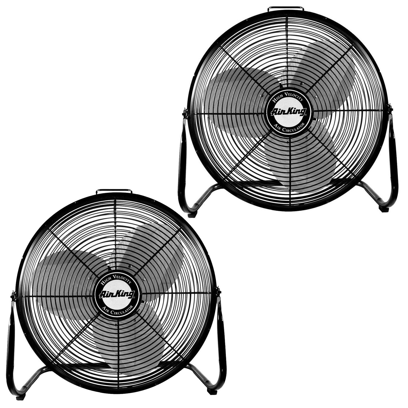 Air King 18″ 1/6 HP 3 Speed Heavy Duty Portable Industrial Floor Fan (2 Pack)