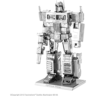 fascinations MMS300 1.75-Inch Metal Earth Transformers Optimus Prime: Toys & Games