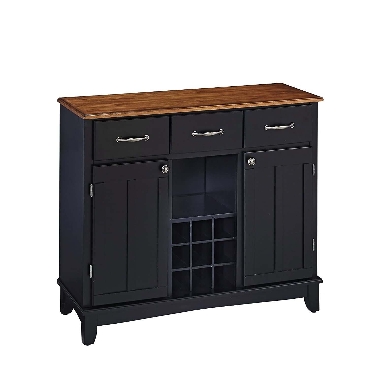 Amazon.com   Home Styles 5100 0046 Buffet Of Buffets Cottage Wood Top  Buffet Server, Black Finish, 41 3/4 Inch   Buffets U0026 Sideboards