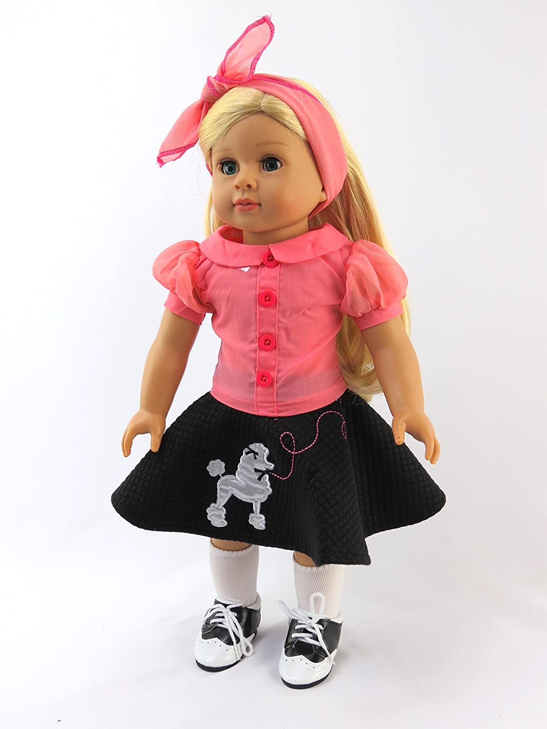 Amazon.com: 50\'s Poodle Skirt Outfit | Fits 18"|1125|1500|?|en|2|dabb5077f5c3953009cd62357f878a62|False|UNLIKELY|0.31133556365966797