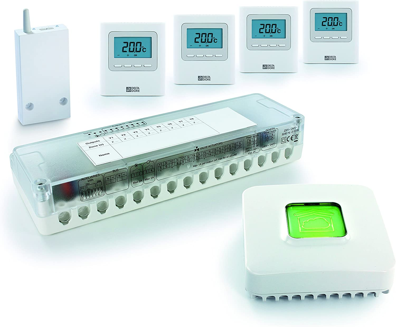 blanc Delta Dore 6053048 Centrale multizone pour chauffage hydraulique