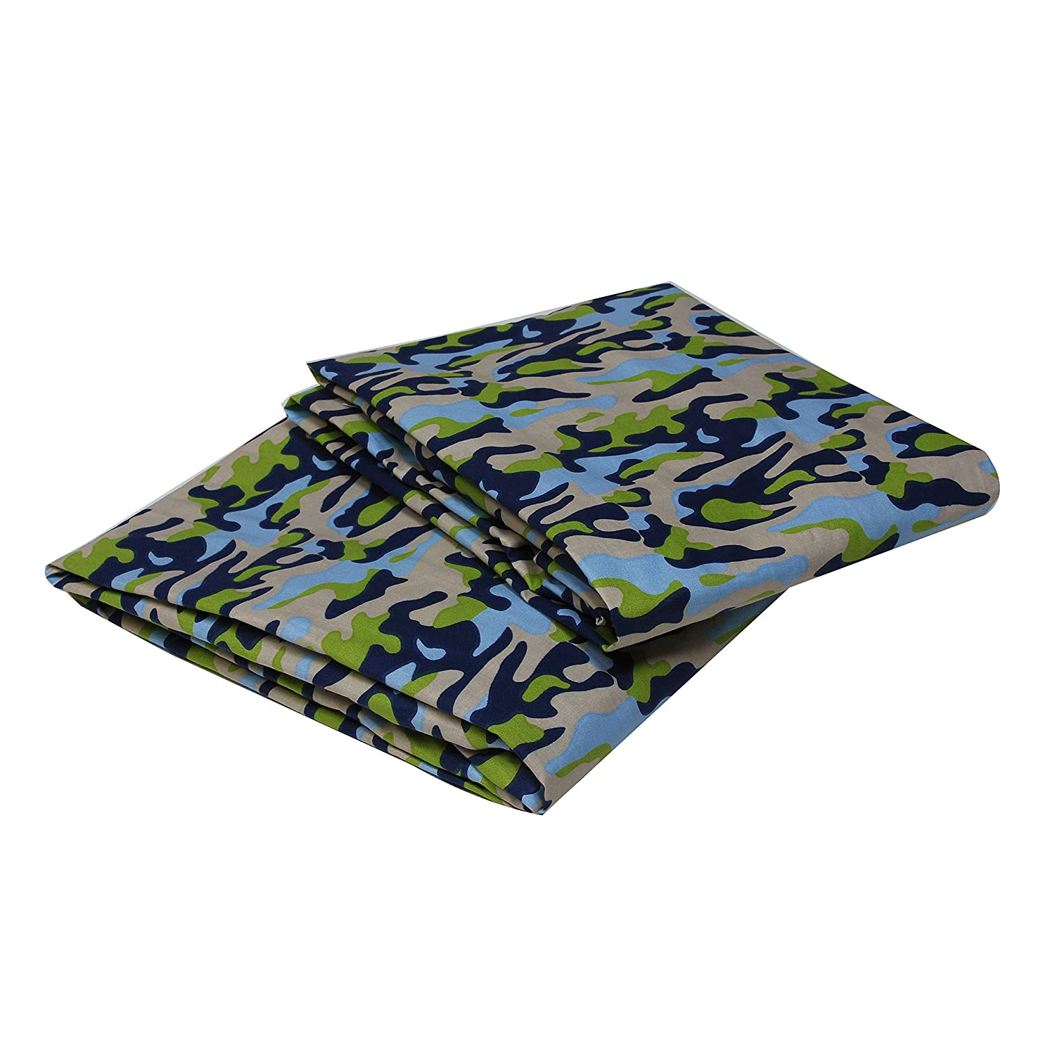 Bacati Crib Fitted Sheet Camo Printed Pack of 2