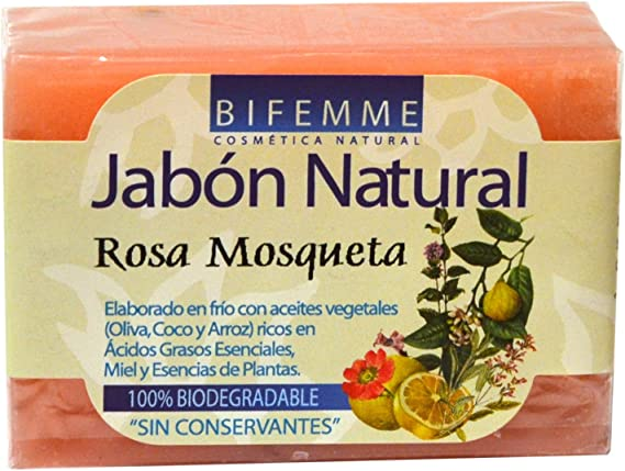 Bifemme - Jabón de rosa mosqueta 100 gr: Amazon.es: Belleza