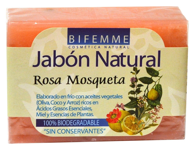 Bifemme - Jabón de rosa mosqueta 100 gr, Pack de 4 Ynsadiet