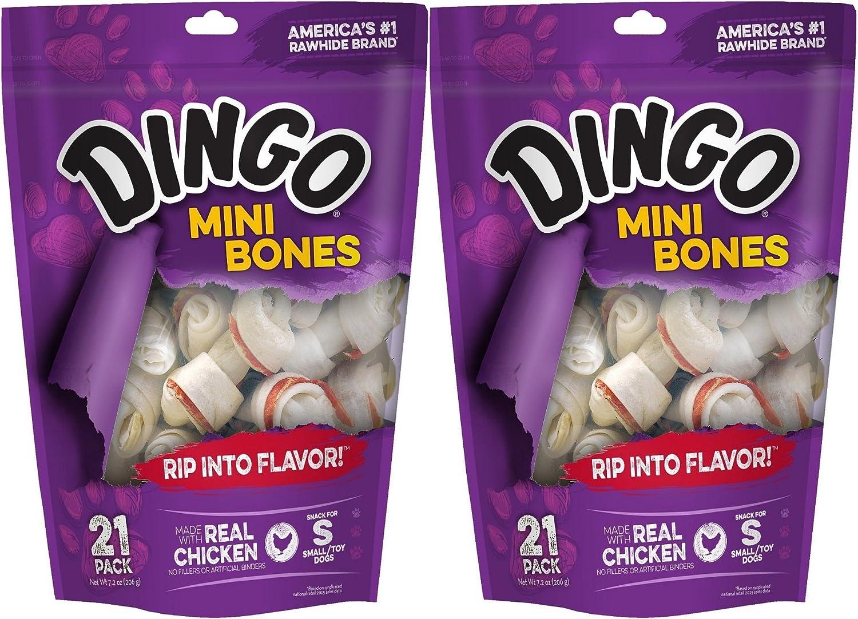 Dingo mini ossa 21-pack Value bag, 255,1 gram (confezione da 2) 42 ossa totale