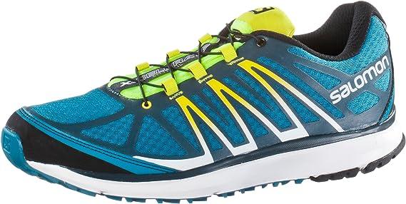 SALOMON X-CELERATE Zapatillas Azul Negro Amarillo Trail Running para Hombre: Amazon.es: Deportes y aire libre