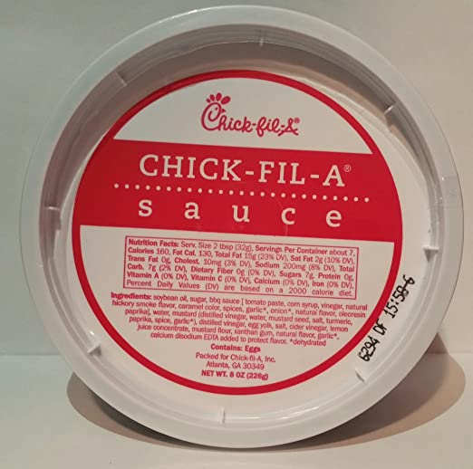 Chick-Fil-A Sauce 8 ounce tub (Pack of 2)