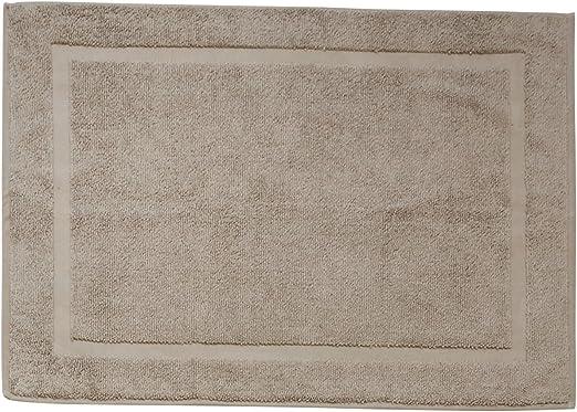 DONE Deluxe – Alfombrilla de baño, algodón, Pardo, 60 x 80 x 1 cm ...