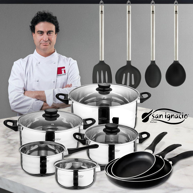 San Ignacio Juego de Sartenes, Utensilios Batería de Cocina ...
