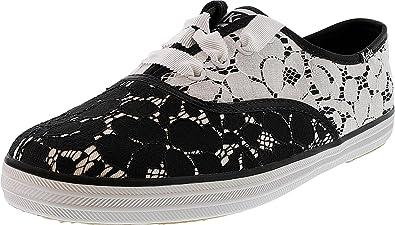 2ad5f07fa Keds Women s Champion Lace Lace Black Cream Ankle-High Canvas Fashion  Sneaker - 8M