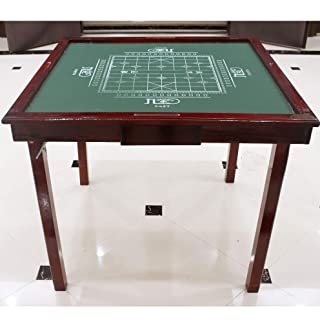 WANGYONGQI Semplice Legno massello Mahjong Tavolo Pieghevole Domestico Mano sfregamento Mahjong Table Manuale Portatile Dual-Use Tabella degli Scacchi