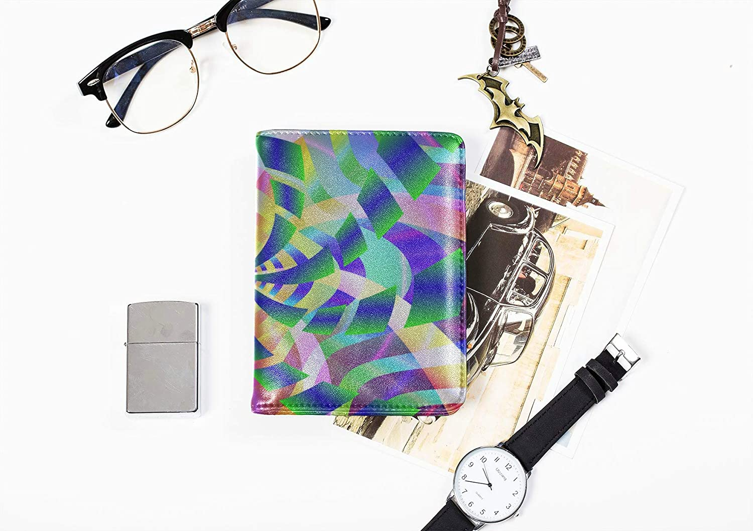 Passport Holder Travel Cover Case Fashion Cute National Colorful Painting Girls Passport Cover Multi Purpose Print Large Passport Cover Travel Wallets For Unisex 5.51x4.37 Inch