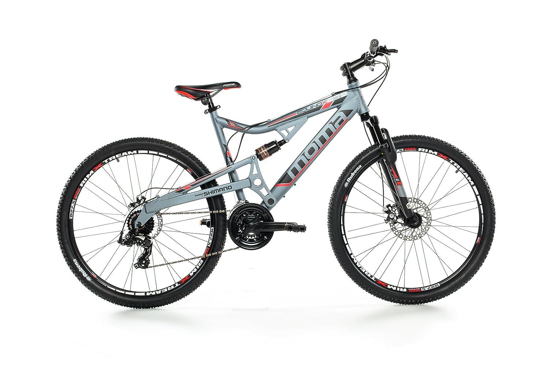 """Moma - Bicicleta Montaña Mountainbike 27,5"""" BTT SHIMANO, aluminio, doble disco y doble suspensión"""