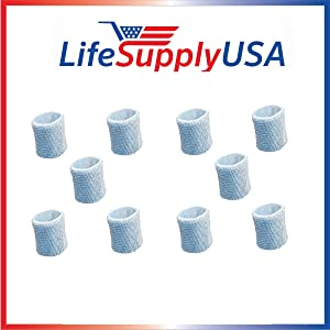LifeSupplyUSA 10 Pack Humidifier Replacement Filter Compatible with Graco 4 Gallon Model 2H02 2H03 and Compatible with Hamilton Beach TrueAir 05520 05521 05920