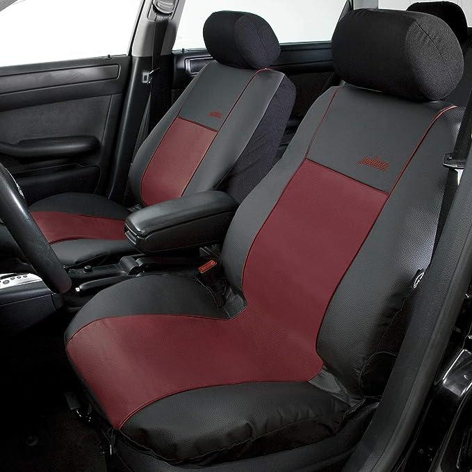 Premium Kunstleder Sitzbezüge Sitzbezug Schonbezüge für Daewoo Matiz Schwarz Set