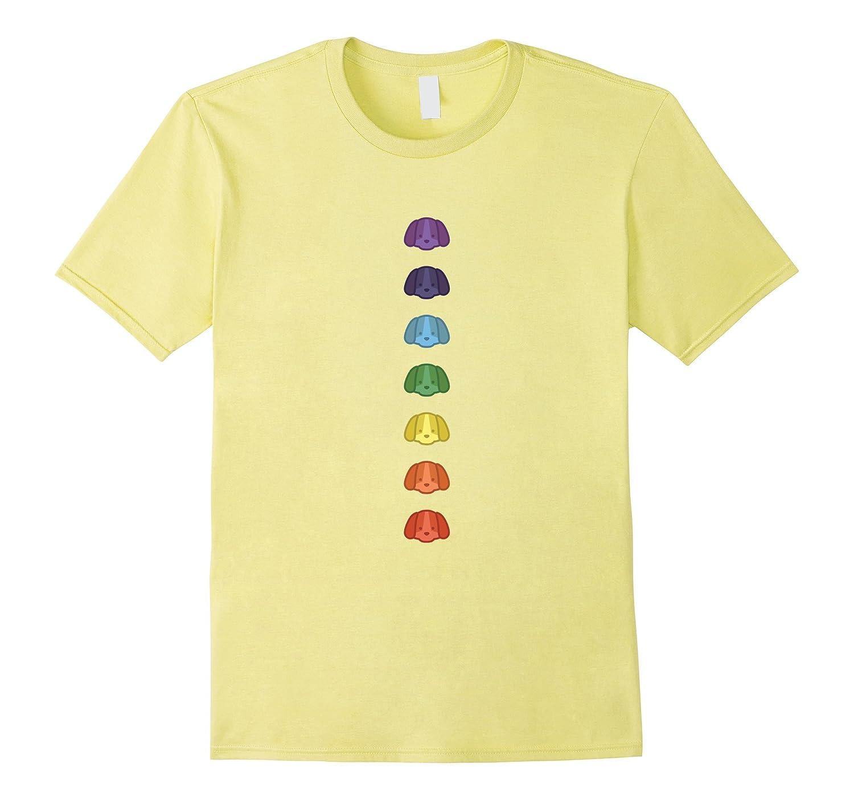 7 Chakras Cute Dog Shirt-T-Shirt