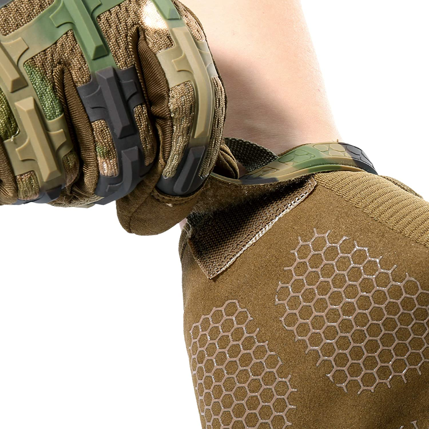 YOSUNPING Tactical Rubber Knuckle Full Finger Gloves Protection for Airsoft Paintball Riding Motorcycle Work