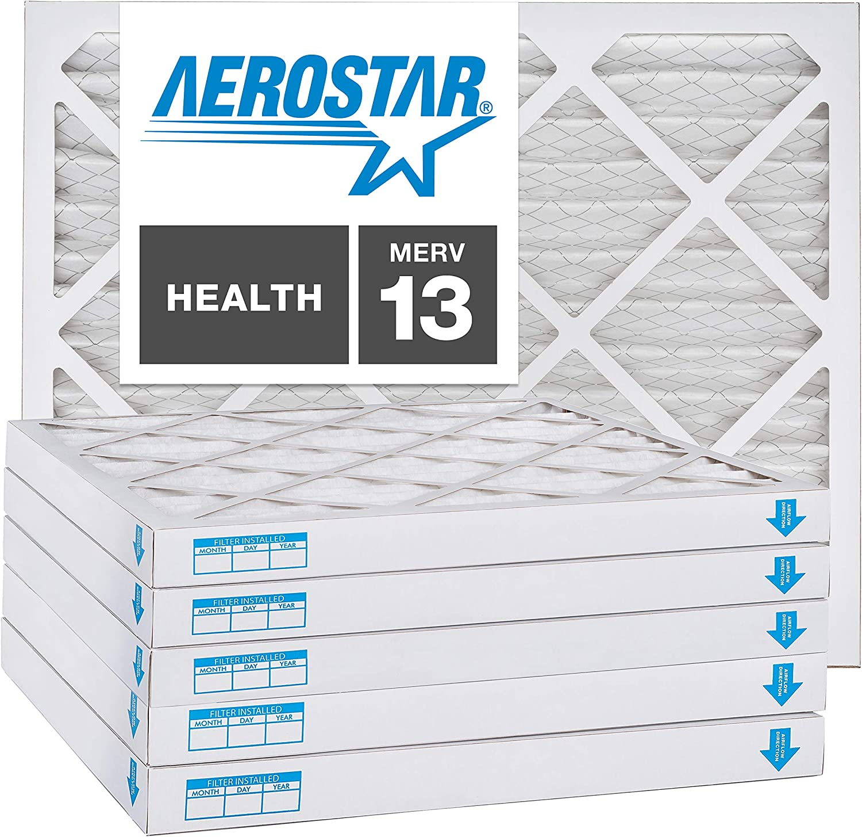 16x20x2 AC and Furnace Air Filter by Aerostar - MERV 13, Box of 12