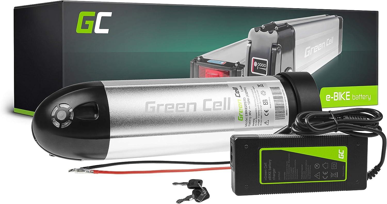 GC® Bateria Bicicleta Electrica 36V 12Ah Botella Li-Ion E-Bike Batería y Cargador