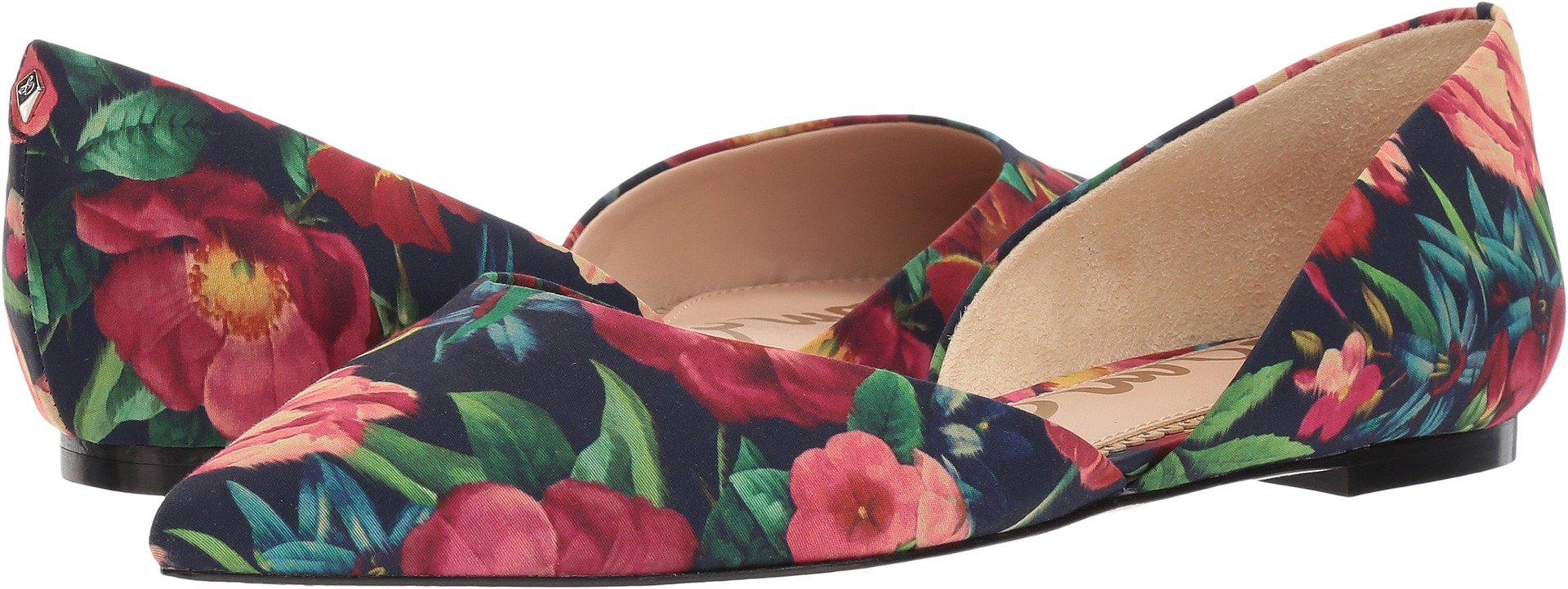 Sam Edelman Women's Rodney Ballet Flat, Navy Multi Bouquet Print, 8.5 Medium US