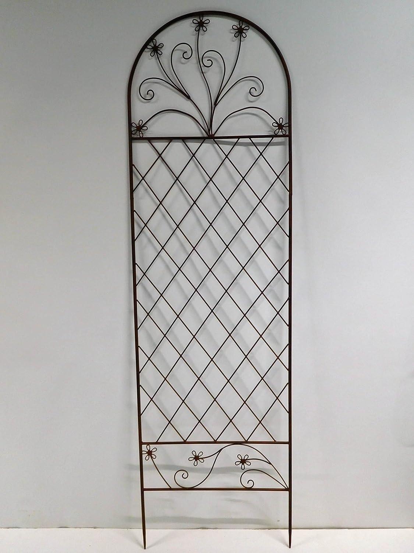 Rankgitter Rankhilfe Zaunelement Zaun Spalier Metall 150 x 50 cm SW130365