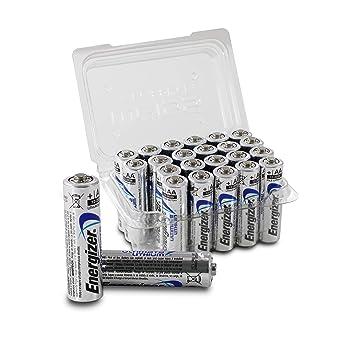 Energizer L91 Ultimate Litio AA/LR06/EN91/Mignon Pilas, vorrats Box, More Power Juego de 24, Incluye batería Cajas Color Blanco
