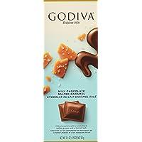 Godiva Chocolatier Milk Chocolate Salted Caramel Tablet Bar, 90g