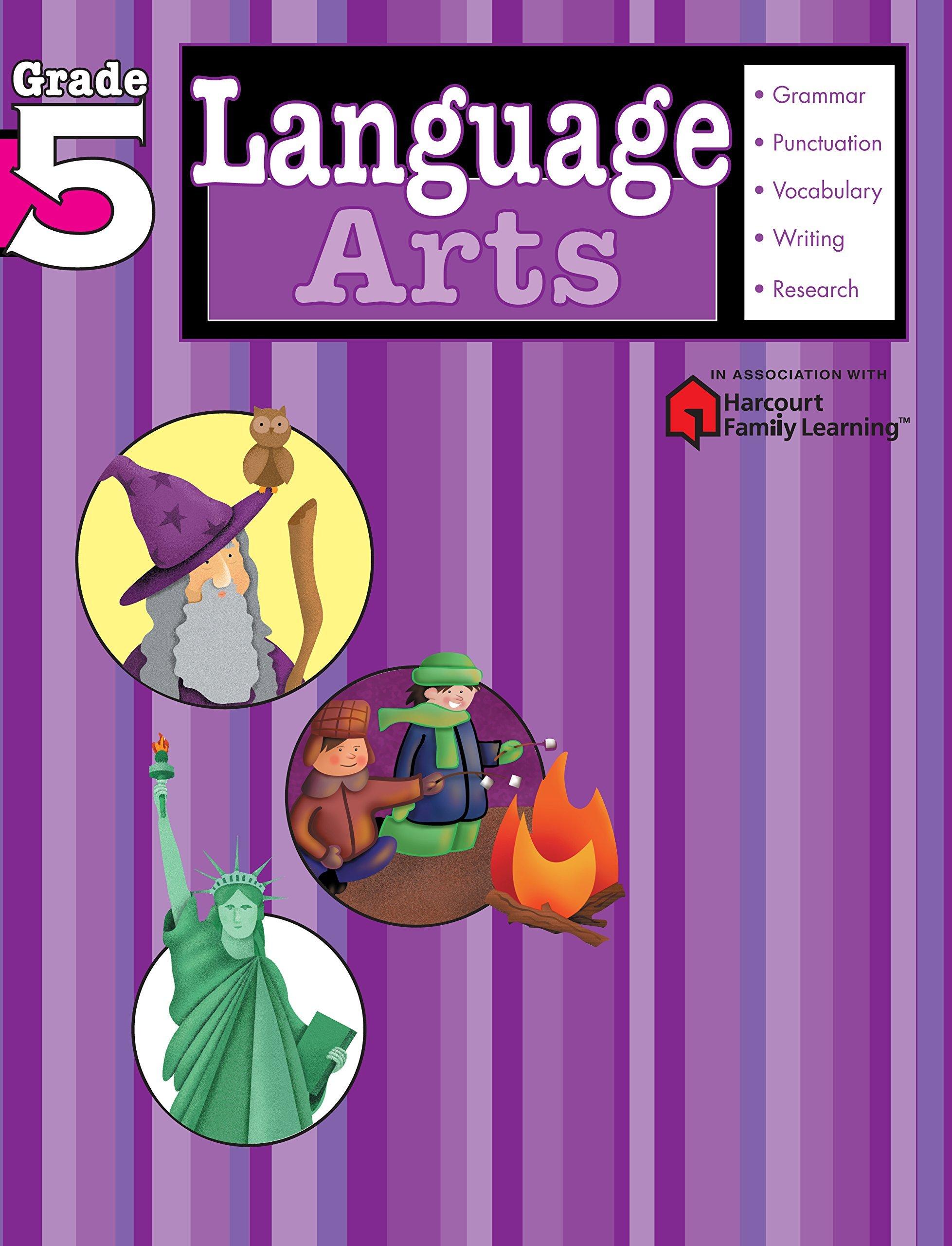 Language Arts: Grade 5 (Flash Kids Harcourt Family Learning): Flash Kids  Editors: 9781411404137: Amazon.com: Books