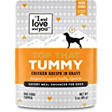 """""""I and love and you"""" Top That Meal Enhancer Grain Free Wet Dog Food Topper, Functional Supplements Added (Variety of Flavors)"""