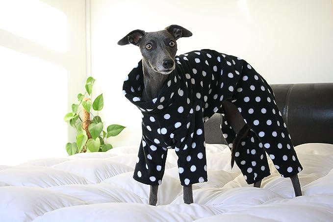15f294f66 Black Polka Dot Onesie   Pyjamas Whippet Greyhound Italian Greyhound  (X-Small)  Amazon.co.uk  Pet Supplies
