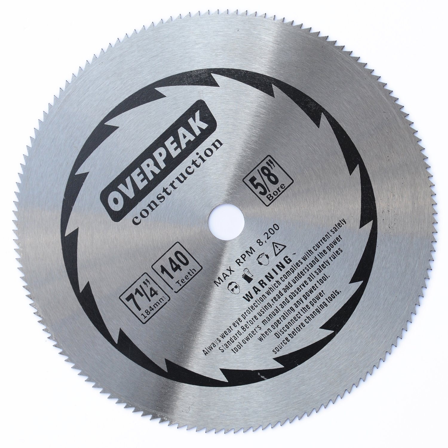 Overpeak 7 14 inch 140 tooth without carbide tipped saw blade overpeak 7 14 inch 140 tooth without carbide tipped saw blade specially for fine finishing cut of hard and thick wood amazon greentooth Image collections
