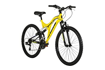 Barracuda Unisex Draco DS Rueda 18 Pulgadas Full Marco de suspensión para Bicicleta de montaña, Color Amarillo, 26: Amazon.es: Deportes y aire libre