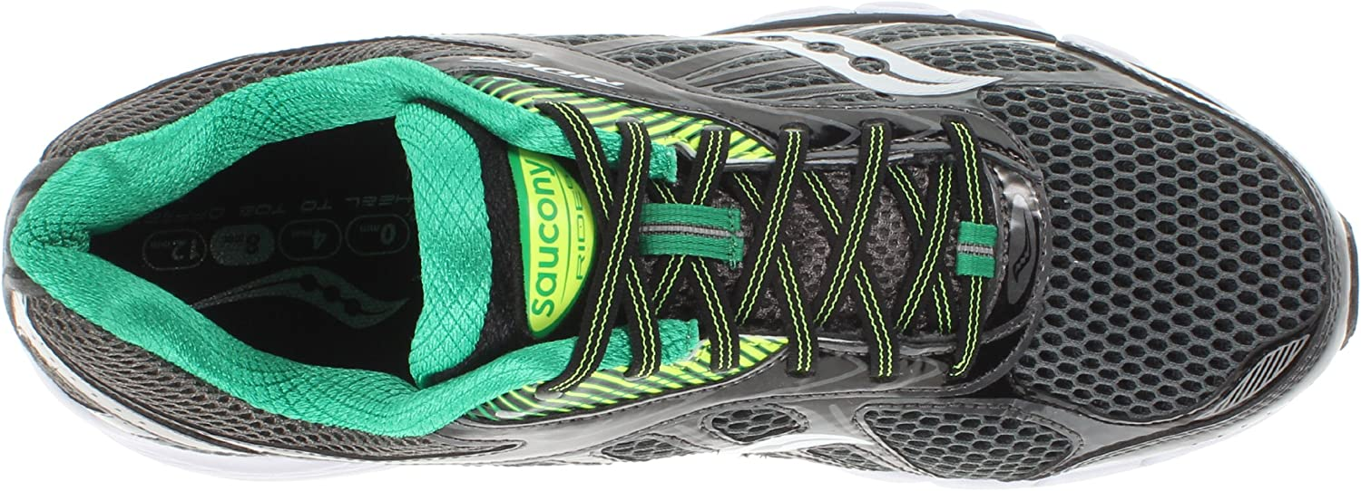 Saucony Men's Ride 6 Running Shoe Grey/Green/Citron