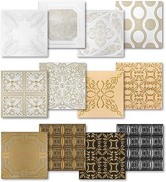 Hexim Styropor Deckenplatten Grosse Auswahl 50x50cm Xps Wand Und Deckenverkleidung 1 Qm Farbige Platten Dekor Formfest Nr 98 Bs Amazon De Baumarkt