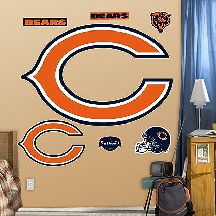 559842d3 Amazon.com : Fathead NFL Chicago Bears Chicago Bears: